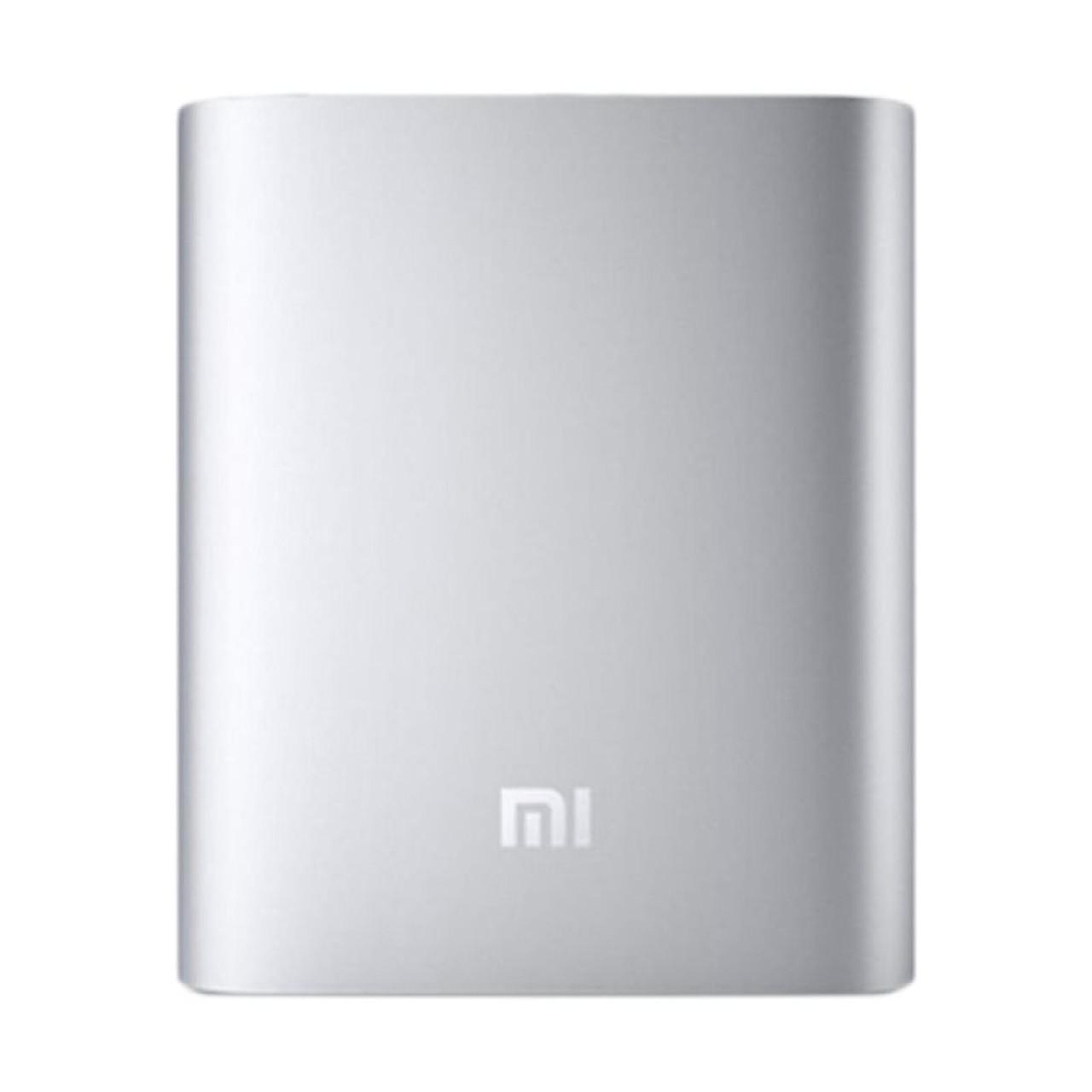 Портативная зарядка для телефона в стиле Xiaomi Power Bank 10400 mAh серебро 130115