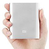 Портативная зарядка для телефона в стиле Xiaomi Power Bank 10400 mAh серебро 130115, фото 2