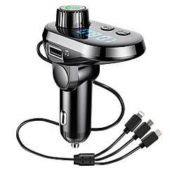 Автомобильный трансмиттер FM-модулятор  MOD. CAR Q15 BT + TYPE-C/V8/IP cable