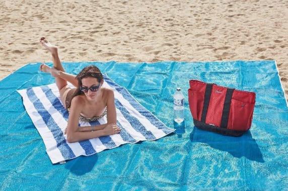 Пляжная Подстилка Анти Песок Sand Leakage Beach Mat Пляжный Коврик Коврик Для Пикника Размер 2 х 2 Метра