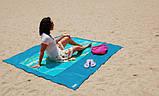 Пляжная Подстилка Анти Песок Sand Leakage Beach Mat Пляжный Коврик Коврик Для Пикника Размер 2 х 2 Метра, фото 4