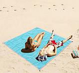 Пляжная Подстилка Анти Песок Sand Leakage Beach Mat Пляжный Коврик Коврик Для Пикника Размер 2 х 2 Метра, фото 6