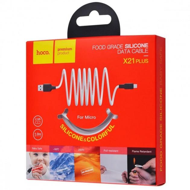Кабель HOCO X21 Micro Plus Silicone 1м 2.4A