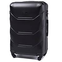 Большой дорожный чемодан wings 147 черный размер L