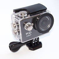 Экшн камера A7 FullHD + аквабокс + Регистратор Полный компект+крепление шлем ЧЕРНАЯ