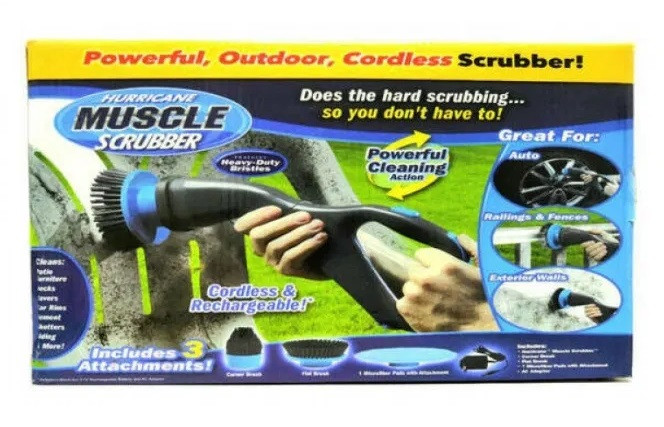 Щетка для уборки на аккумуляторе Hurricane Muscle Scrubber 3в1