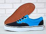 Кеды Vans Era черные с голубым (Кеды Ванс), фото 3