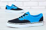 Кеды Vans Era черные с голубым (Кеды Ванс), фото 6
