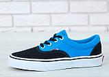 Кеды Vans Era черные с голубым (Кеды Ванс), фото 7