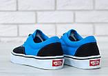 Кеды Vans Era черные с голубым (Кеды Ванс), фото 8