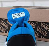 Кеды Vans Era черные с голубым (Кеды Ванс), фото 9