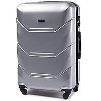 Большой дорожный чемодан wings 147 silver размер L
