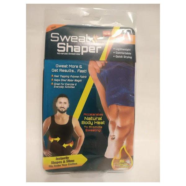 Мужская майка для похудения Sweat SHAPER эластичная черная
