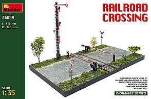 Железнодорожный переезд. Набор для создания диорамы в масштабе 1/35. MINIART 36059