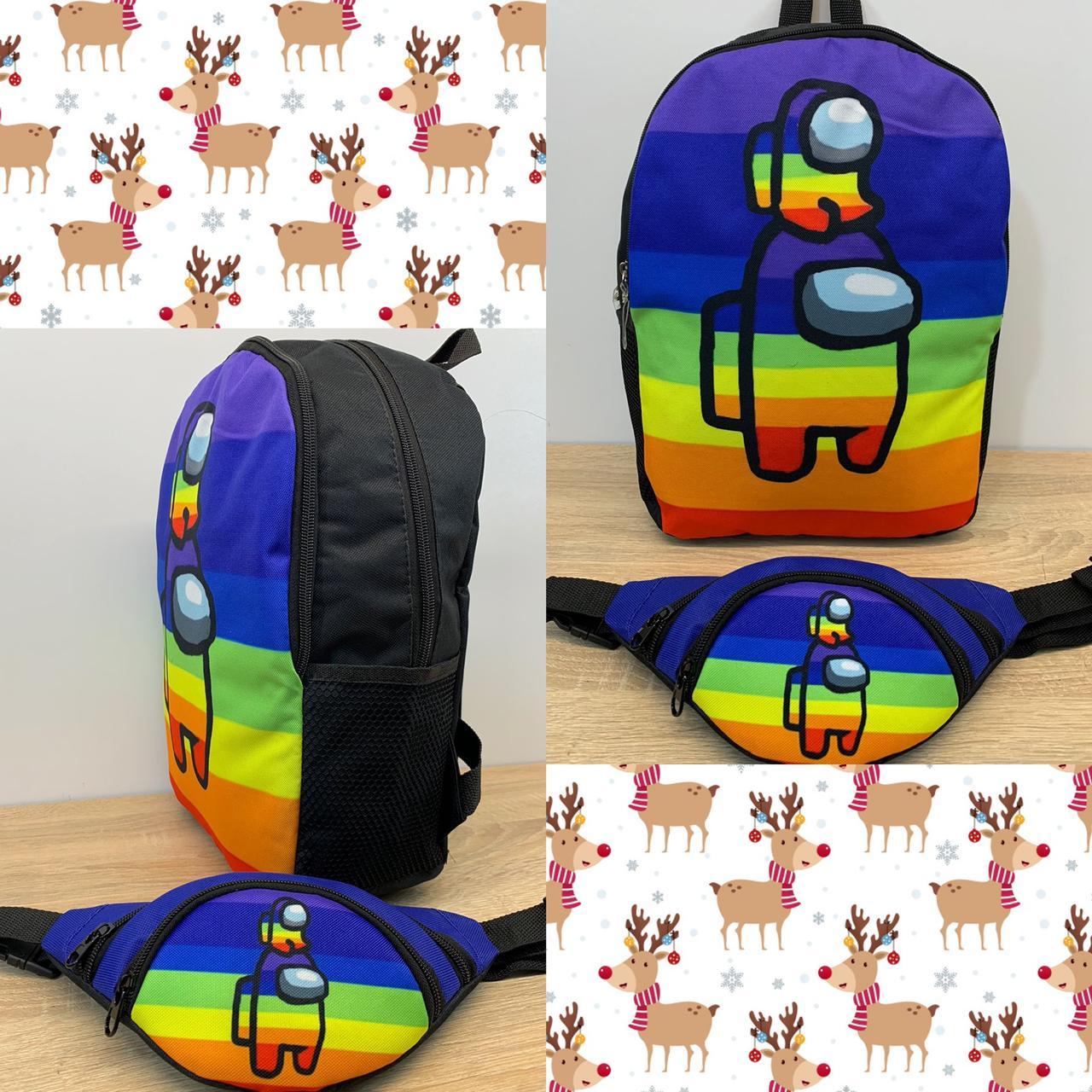 Рюкзак молодежный модный 37*26 см Among Us