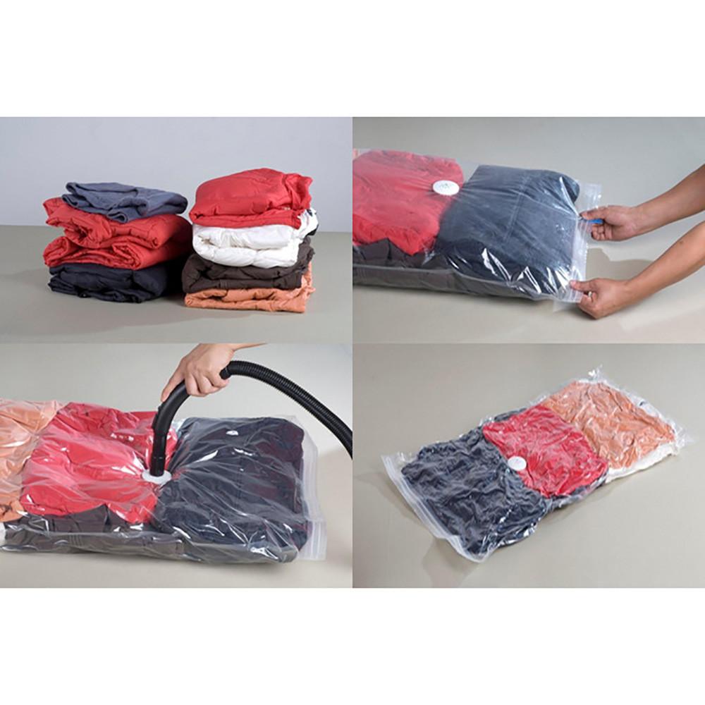 Комплект 5шт Вакуумные пакеты для хранения одежды 50*60