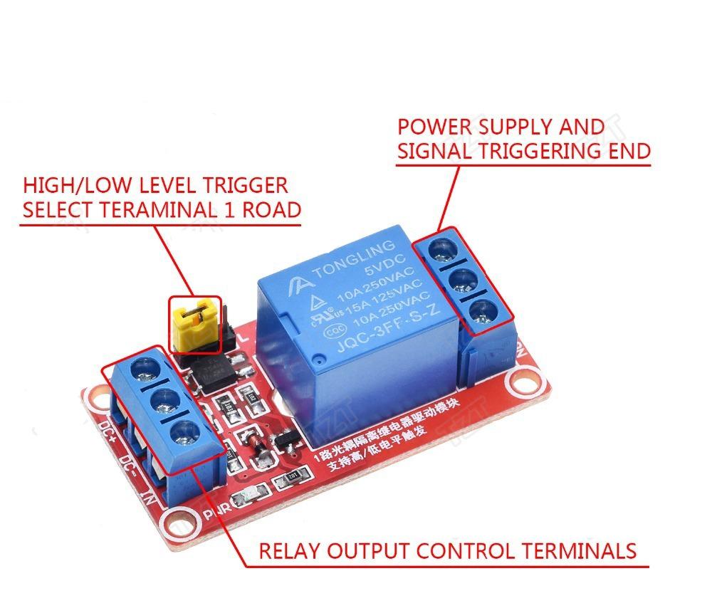 1 канальный модуль реле 5В  с клеммной колодкой, реле для Arduino