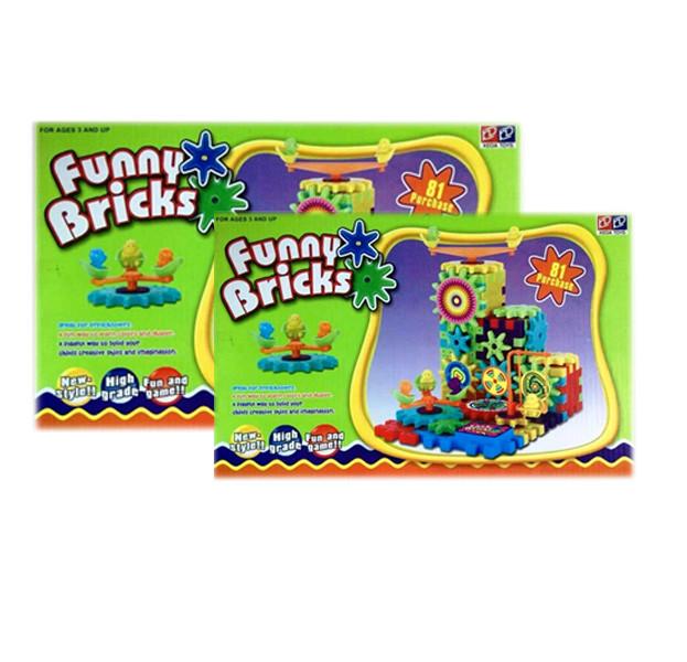 Детский развивающий 3D-конструктор Funny Bricks, 81 деталь.
