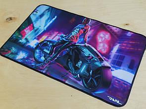 Ігровий килимок для мишок ігрова поверхня RAIL Cyberpunk