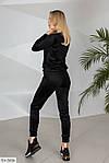 Велюровый женский спортивный костюм (Батал), фото 6