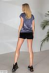 Женский велюровый костюм с шортами, фото 2