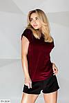Женский велюровый костюм с шортами, фото 3