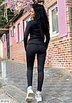 Женский черный спортивный костюм с лосинами (Батал), фото 2