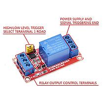 1 канальный модуль реле 12В  с клеммной колодкой, реле для Arduino