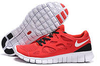 Кроссовки женские беговые Nike Free Run Plus 2 (найк фри ран) красные