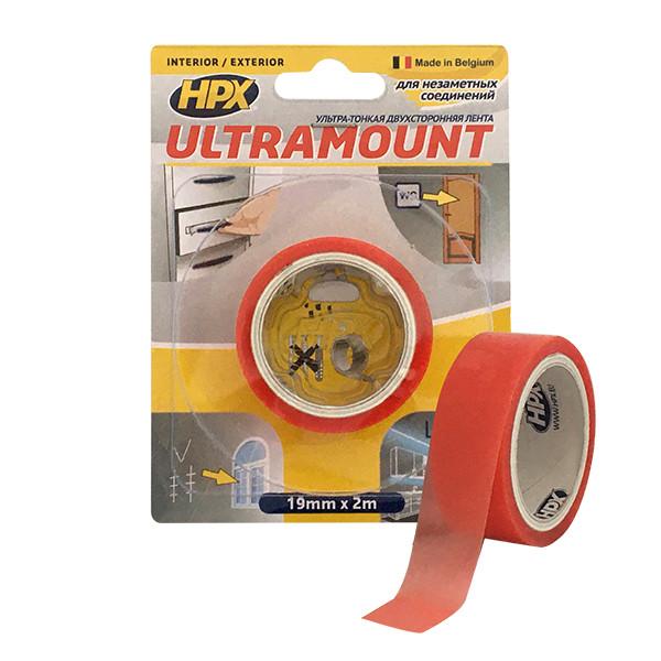 ULTRA MOUNT  - 19мм x 2м - ультра-тонкая прозрачная монтажная лента (скотч) для незаметных соединений
