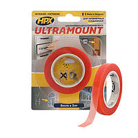 ULTRA MOUNT  - 9мм x 5м - ультра-тонкая прозрачная монтажная лента (скотч) для незаметных соединений