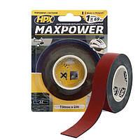 MAXPOWER OUTDOOR - 19мм х 2м - черная двусторонняя лента HPX (скотч) для экстремальных нагрузок