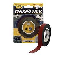 MAXPOWER OUTDOOR - 12мм х 2м - черная двусторонняя лента HPX (скотч) для экстремальных нагрузок