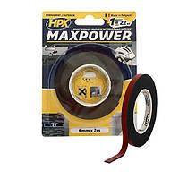 MAXPOWER OUTDOOR - 6мм х 2м - черная двусторонняя лента HPX (скотч) для экстремальных нагрузок
