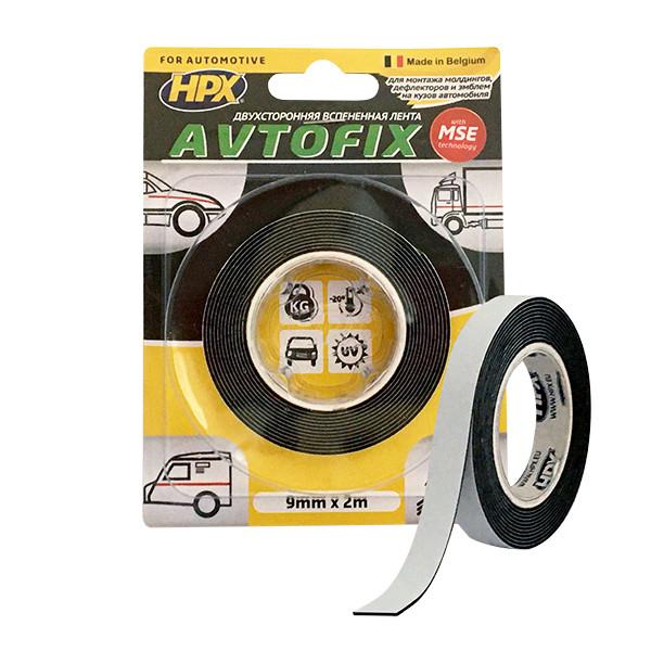 AUTOFIX - 6мм x 2м, эконом - автомобильная двусторонняя клейкая лента (скотч)
