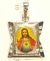 "Кулон ХР Родий ""Икона Иисус"""