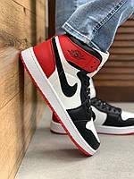 Мужские кроссовки Nike Air Jordan 1 High White/Black/Red Мужские Баскетбольные Кроссовки Джордан