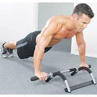 Айрон Джим (IRON GYM) — домашний тренажер для тренировки мышц всего тела. С его помощью — вы делаете 12 различных силовых и разминочных упражнений.