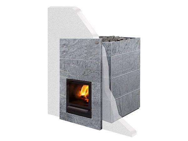 Дровяная печь-каменка Tulikivi KINOS 20 S1 объем парилки 8-20 м.куб, вес камней 60 кг, нагрев воды