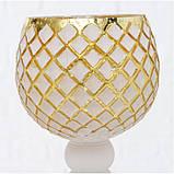 Набор из 3-х подсвечников-бокалов золотое стекло h30-40см, фото 2