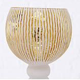 Набор из 3-х подсвечников-бокалов золотое стекло h30-40см, фото 8
