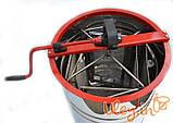 Медогонка Алюмоцинковая, с поворотом кассет 4-х рамочная под рамку «РУТА 230 мм», фото 2