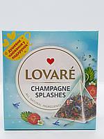 Чай черный с зеленым с ароматом земляники в пирамидках Lovare Брызги шампанского 15  х 2 г