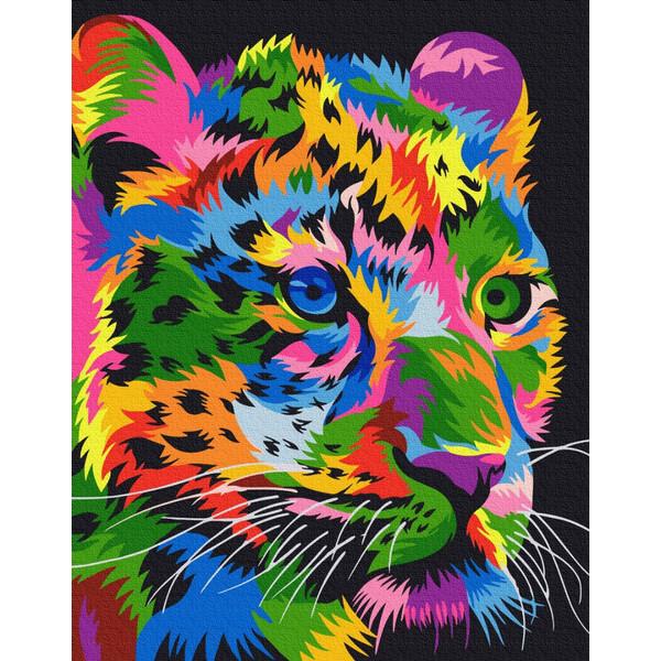 """Картина за номерами """"Леопард плямистий"""""""