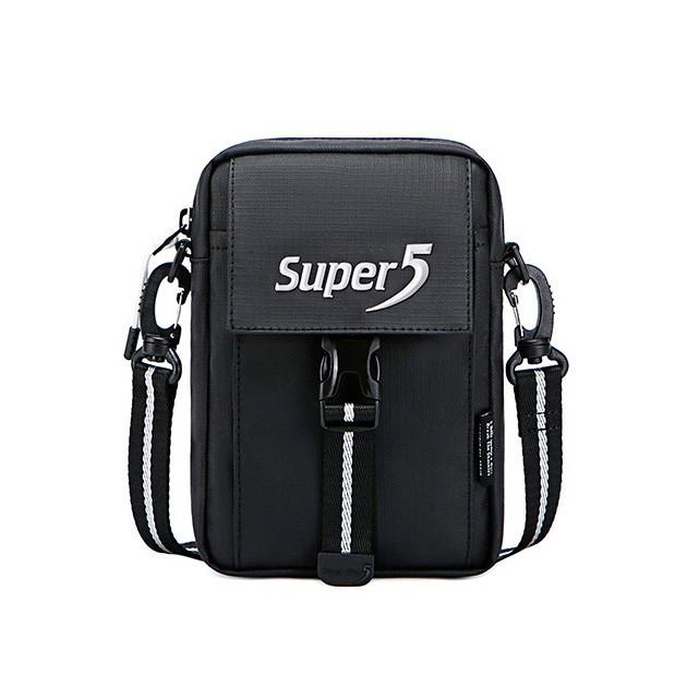 Небольшая сумочка через плечо Super5 K00104, с тремя отделениями, из водоотталкивающей ткани, 1л