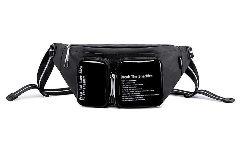 Большая сумка на пояс или через плечо (бананка) Super5 Y00015, влагозащищённая, 3л
