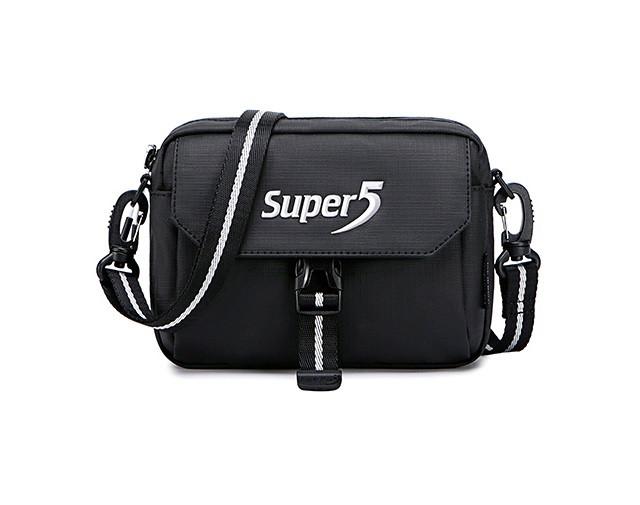 Небольшая сумочка через плечо Super5 K00106, с тремя отделениями, из водоотталкивающей ткани, 1л