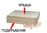 Улей Многокорпусный под рамку типа «Дадан 300 мм» с магазином (2 корпуса+магазин, на 12 рамок), фото 4