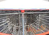 16-ти рамочная «ЕВРО» Медогонка, с поворотом кассет, нержавеющая (ротор Н/Ж, с крышкой) под рамку «ДАДАН», фото 4