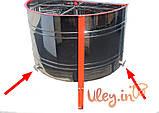 16-ти рамочная «ЕВРО» Медогонка, с поворотом кассет, нержавеющая (ротор Н/Ж, с крышкой) под рамку «ДАДАН», фото 5